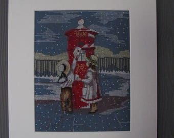 "Painting ""the letter to Santa"" embroidered"
