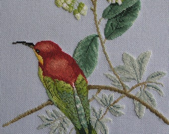 Embroidery of trouble to Brown head cross stitch