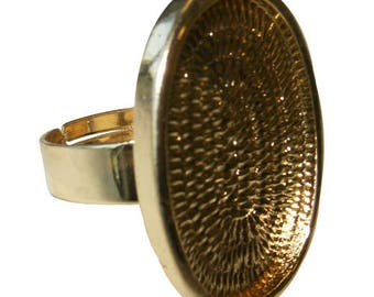 Ring oval tray (color gold)