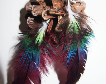 Earrings made of real feathers!
