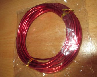 5 meter wire red 2mm diam.
