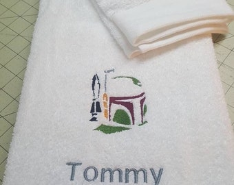 Personalized Minecraft and Star Wars Hand Towel Only