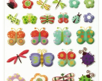 """Stickers Cooky relief """"Dragonfly"""" x 30 - MAILDOR - Ref 560388"""