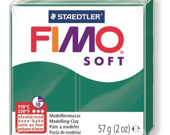Fimo Soft 57 g - Emerald N 56 - Ref 68020056 - until the stock!