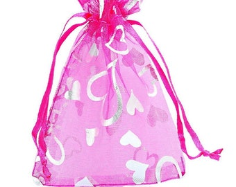 25 mixed bags pouches Organza gift wedding party 9 x 12 cm
