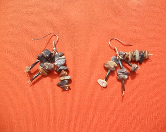 Earrings with Jasper beads