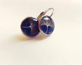 Ginkgo biloba earrings - Ginkgo earrings - Drop ginkgo earrings