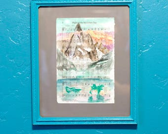 Hymn Art High on the Mountain Top LDS Watercolor Page Print
