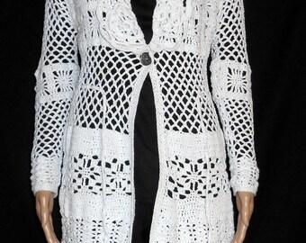 Wedding: long waistcoat cotton brilliant white 40/42