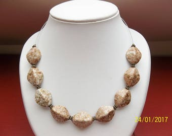 Pearl necklace in pearls fantasy mid-length