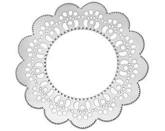 Set of 10 prints filigree steel 30mm SC65995 Silver Flower charm