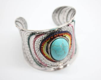 Gorgeous BOHO BOHEMIAN beaded Cuff Bracelet
