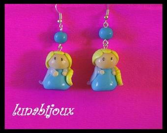 polymer clay stud earring jewelry polymer jewelry birthday gift,