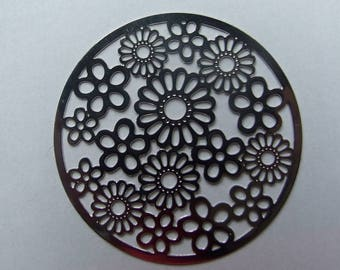 42mm flower filigree disc