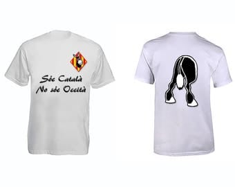"Catalan T-shirt ""Soc Catala, soc Occita No."""