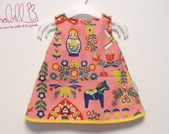 """""""Pink Russian"""" trapeze dress"""