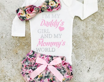 Newborn Girl Outfits, Newborn Girl Coming Home Outfit, Baby Girl Clothes, Daddys Girl Mommys World, Newborn Girl Clothes, Coming Home Outfit
