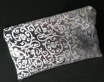 Silver Black pouch