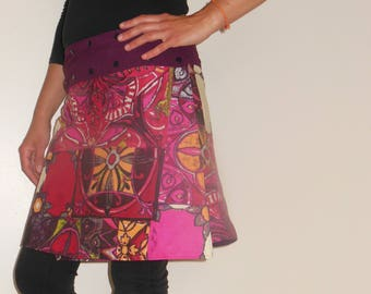 reversible cotton snap skirt any size!