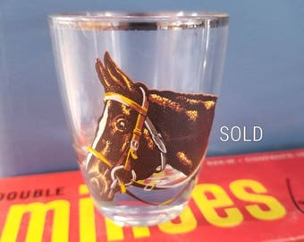 Must have for the shot glass or horse decor collector.