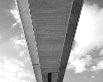 Abstract Art Photographic Print of the Itchen Bridge in Southampton