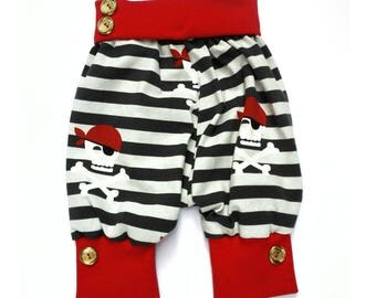 Baby Pants, Newborn Pants, Baby boy pants, Baby girl pants, Baby outfit, Baby shower gift, Pirates, Size 56, 0-3 Months