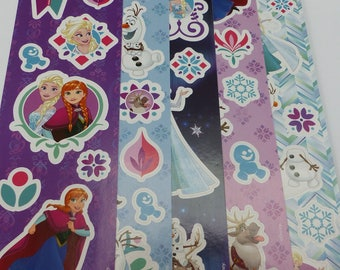 5 sheets of frozen elsa and anna stickers stickers