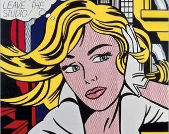 DECO poster wall Roy Lichtenstein Maybe a girl's picture 30 x 30 cm