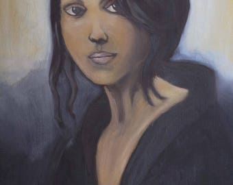 Camille - Portrait of woman oil painting