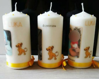 the lion king theme personalized candle