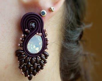soutache earrings studs