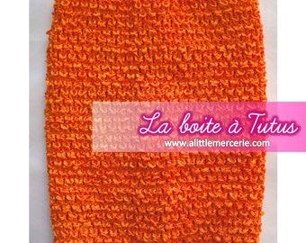 Girl ★ ★ 2/3/4/5/6 years stretch crochet tutu dress strapless ORANGE