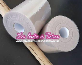 TAUPE PROMO - Set of 2 rolls of soft Tulle for gray tutu dress