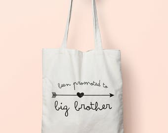 Been Promoted To Big Brother Tote Bag Long Handles TB0025