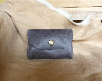 Grey leather wallet