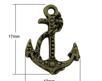 Set of 10 bronze charms - 17 x 13 dimensions (BR022)
