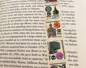 Czech Architecture Postage Stamp Bookmark