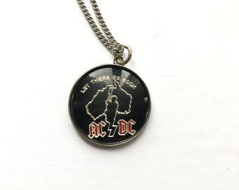 1980s AC/DC Pendant Necklace