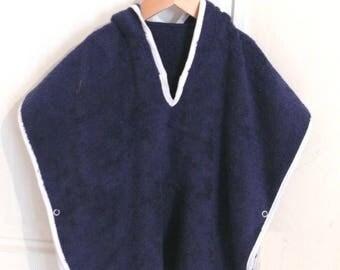Personalized Navy Blue bath robe/poncho
