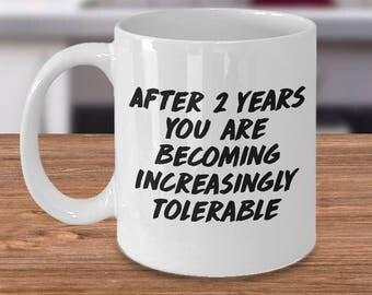 2nd anniversary, 2nd anniversary mug, 2nd anniversary gift, 2nd anniversary mugs, 2 year anniversary mug, 2 year anniversary mugs