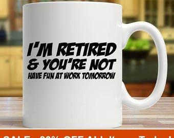 retirement gift, retired mug, retirement gifts, retirement mug, retirement glass, happy retirement, retirement gift idea,gift for retirement