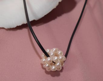 Cultured Pearl Ball pendant necklace