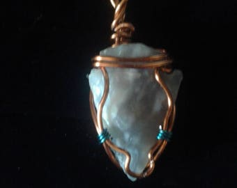 Cooper and blue wrapped arrowhead