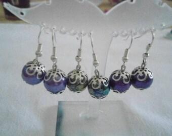 Earrings big Pearl color auxchoix
