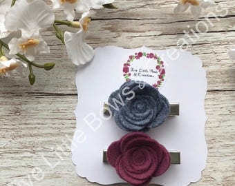 Rose clips, flower clips, fringe clips, hair clips