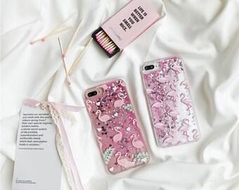 iphone 7 plus case pink  flamingos