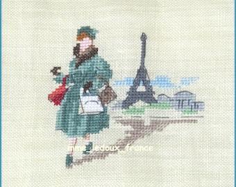 "Embroidery cross Pt ""Parisienne"" - v pattern - custom"