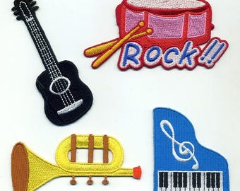 4 coats matching Musical Instrument collection or sew on Patch Applique