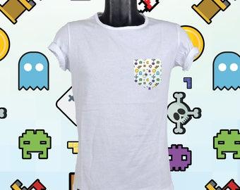 Pocket tshirt video games
