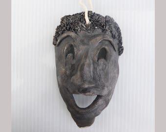 Mask African Black raku